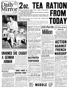 Select an old newspaper from the date of your choice - Historic Newspapers Women In History, World History, Vintage Newspaper, Newspaper Wall, Front Page News, Newspaper Headlines, The Blitz, Newspaper Article, Military Photos