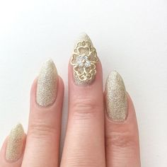 Full nail charms, already popular, but hard to find.   I'm predicting this next nail craze is about to blow up soon.