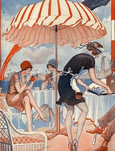 Illustration by Vald'Es For La Vie Parisienne 1920s