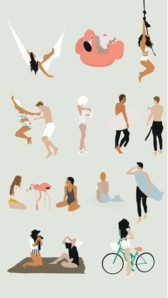 Flat Vector Summer Theme People Flat Vector Summer Theme People Illustration for Architecture & Interior Design Architecture People, Architecture Graphics, Amazing Architecture, Flat Illustration, Digital Illustration, Render People, People Png, People Cutout, Photocollage