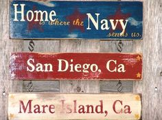 Crafty military spouses sell their wares worldwide.  I'd like to make a version of this wall hanging someday
