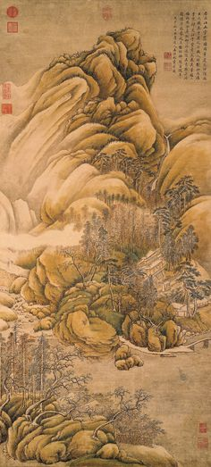 "Wang Shimin (1592-1680) ""Clearing of Rivers and Mountains after Snow"""
