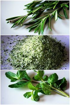 Senses in the kitchen: Rosemary & mint salt - Christmas gifts vol. 5