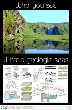 What a geologist sees