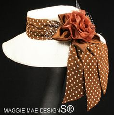 The Chelsea of the Chocolate Polka Dots for your next Concours adventure! See them all at http://www.maggiemae.com/ConcoursdEleganceHats.htm