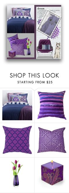 """""""Night Owl/Blue and Purple"""" by nancysdrew ❤ liked on Polyvore featuring interior, interiors, interior design, home, home decor, interior decorating, LSA International, Etro and Jiti"""