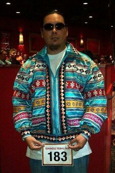 Seminole jacket hand made by my grandmother ...this is stunning.....vwr