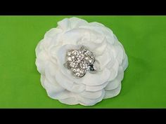 No templates, One Piece of Fabric Only! Used Recycled Fabric Strips! Easy to make Bridal flower or for hair accessories, etc. Fabric Flower, Tutorial, Do It ...