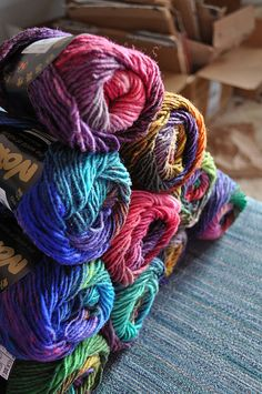 Noro yarn  I love the colors but I hear its really scratchy...i should just break down and make a scarf to test it out