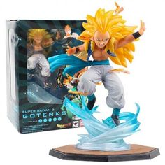 60efb56e5056 Estátua Gotenks Super Saiyan 3 - Figuarts Zero Dragon Ball Z Goten E  Trunks, Super