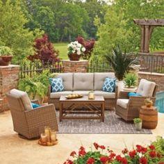 Barcalounger 6-piece Theater Seating Set | Backyard Oasis ... on Barcalounger Outdoor Living id=23545