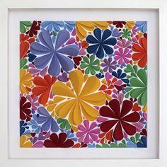 Paper Artwork: 3d Blossom Square by Mondocherry