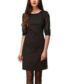 Another great find on #zulily! Black Marion Sheath Dress by Almatrichi #zulilyfinds