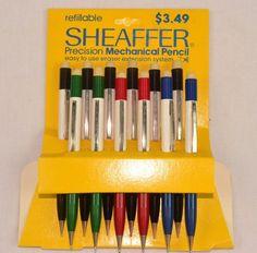 Vintage New Old Stock SHEAFFER Mechanical Pencil TEX Assortment ~ 12 Pencils L3