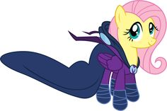 I was going to say the wing was hidden beneath the cape and have her mane hanging out. Fluttershy as Mare Do Well Mlp My Little Pony, My Little Pony Friendship, Some Beautiful Pictures, Olsen Twins, Fluttershy, Pikachu, Mystery, Wellness, Deviantart