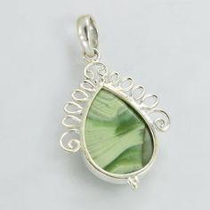 Beautiful silver Pendant Agate Pendant Stone by DevmuktiJewels