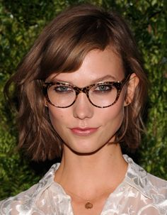 """Never forget the brows! """"Use a shadow that matches your hair color to fill in brows,"""" Brown says. """"This will ensure that your glasses don't overpower your face."""" Now if we could only score Karlie Kloss' enviable arches..."""