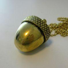 Acorn Necklace    £22.00 #statementjewelry #statementjewellery #jewelry #jewellery #ThatsPretty #fashion #vintagejewelry