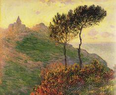 L'Eglise de Varengeville à contre-jour (C Monet - W 727),1882.