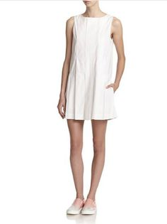 e8eb57222864d Marc By Marc Jacobs - White Cotton-Poplin Shift Dress - Lyst