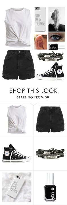 """Untitled #167"" by lexielou211 ❤ liked on Polyvore featuring VILA, Topshop, Converse, Humör and Essie"