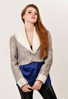 Bolero Nuno felted jacket  Luxurious silver tulle by texturable