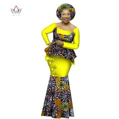 African Dashiki Top and Skirt set o-neck Bazin Riche full sleeve Plus Size Dress
