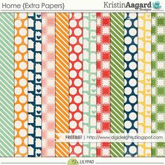 Quality DigiScrap Freebies: Home paper pack freebie from Kristin Aagard Designs