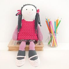 and the little dog laughed - hand knitted 'eliza' doll