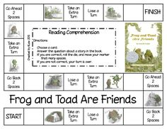 Frog and Toad reading comprehension games