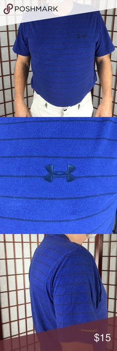 Under Armour Heat Gear Very comfortable short sleeve Under Armour t-shirt. Royal blue with black horizontal lines. Under Armour Shirts Tees - Short Sleeve