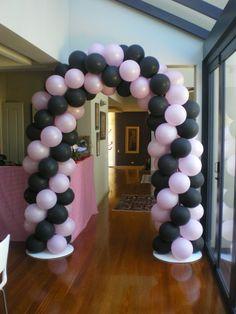 Pink & Black Arch