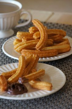 Churros, Onion Rings, Dessert Recipes, Desserts, Food To Make, Waffles, Food And Drink, Breakfast, Ethnic Recipes