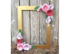 Gold Floral Frame, Photo booth prop -    Edit Listing  - Etsy