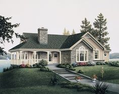 Country House Plan with 1681 Square Feet and 2 Bedrooms from Dream Home Source | House Plan Code DHSW53895