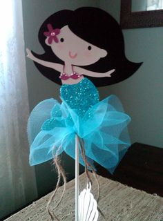 Adorable Mermaid Centerpiece Topper by ThePaperPartyBox on Etsy