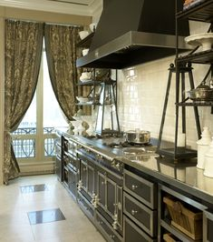 Lake Shore Drive Penthouse Kitchen Transitional by Jessica Lagrange Interiors