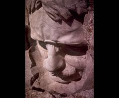 """Roosevelt closeup from above. """"Do what you can, with what you've got, where you are,"""" said Roosevelt. He also said, """"I have always been fond of the West African proverb 'Speak softly and carry a big stick; you will go far'."""" Photo #22 by NPS Digital Image Archives"""