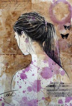 "Saatchi Art Artist Loui Jover; Drawing, ""ismene"" #art"