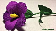 How to make beautiful purple nierembergia paper flower diy easy origami ...