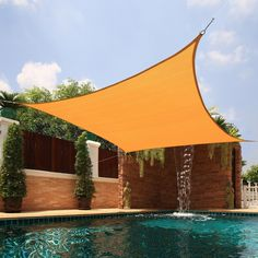 X Square Sun Shade Sail Canopy UV Block Patio Yard Top Cover. Sun Shade sails are growing in popularity. Excellent to provide cool shade for family and friend in garden,yard,patio and outdoors area. Outdoor Spaces, Outdoor Living, Outdoor Decor, Outdoor Pool Areas, Indoor Outdoor, Outdoor Furniture, My Pool, Sun Shade, Pool Shade