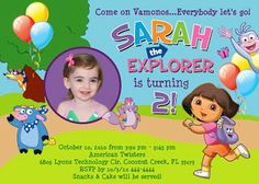 Shutterbug Sentiments: Dora the Explorer Birthday Invitations