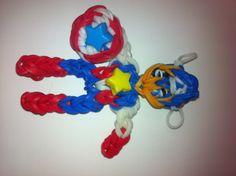 Rainbow Loom Captain America by April.