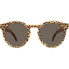 Illesteva Leonard II Cheetah Brown (£205) ❤ liked on Polyvore featuring men's fashion, men's accessories, men's eyewear, men's sunglasses, sunglasses, glasses, accessories, óculos, accessories - eyewear and illesteva