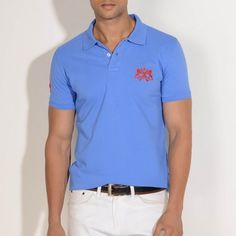 A simple #CobaltBlue #polo, for the dad who loves his game of golf.  #shersinghstyle