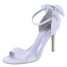 Women's Melody Back Bow HeelWomen's Melody Back Bow Heel, White