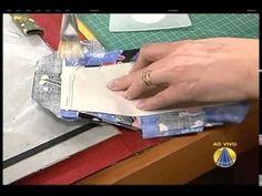 Carteira de Cartonagem   Carteira em Cartonagem com Aba - Heloísa Gimene...