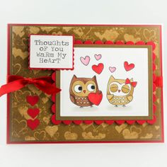 Handmade Valentines Card  Anniversary Card  Thinking by TrioCards, $4.50