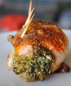 Oven Baked Stuffed Chicken Thighs