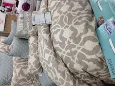 Gray and white bedding duvet cover